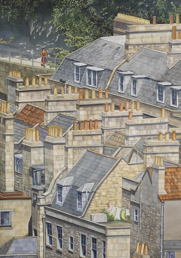 The roofs of Pierrepont Street